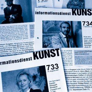Informationsdienst KUNST, Cover